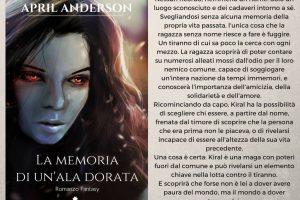 LA MEMORIA DI UN'ALA DORATA – APRIL ANDERSON (ROMANZO FANTASY) RECENSIONE